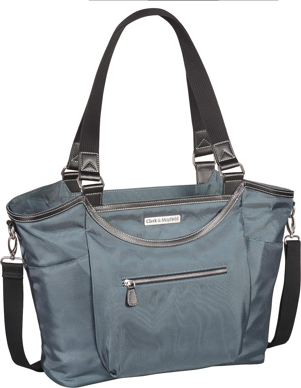 "Clark & Mayfield Women's Bellevue Laptop Handbag (Fits laptops up to 18.4"", Deep Teal)"