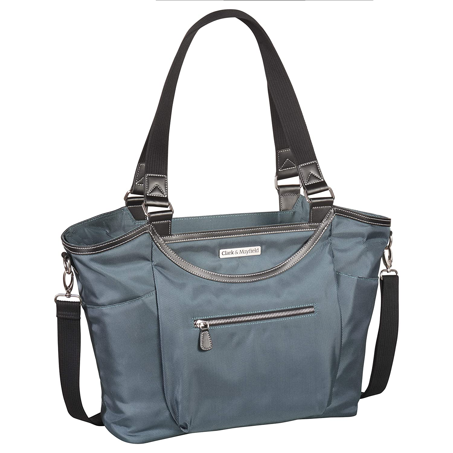 "Amazon.com: Clark & Mayfield Women's Bellevue Laptop Handbag (Fits laptops  up to 18.4"", Deep Teal): Computers & Accessories"