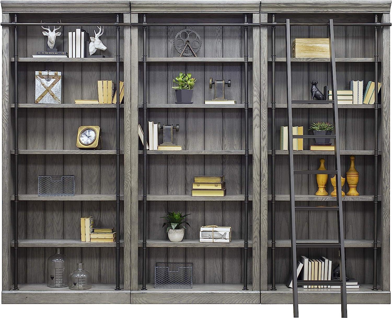 Martin Furniture AE4094Gx3-AE402 Avondale 3 Bookcase Wall Gray