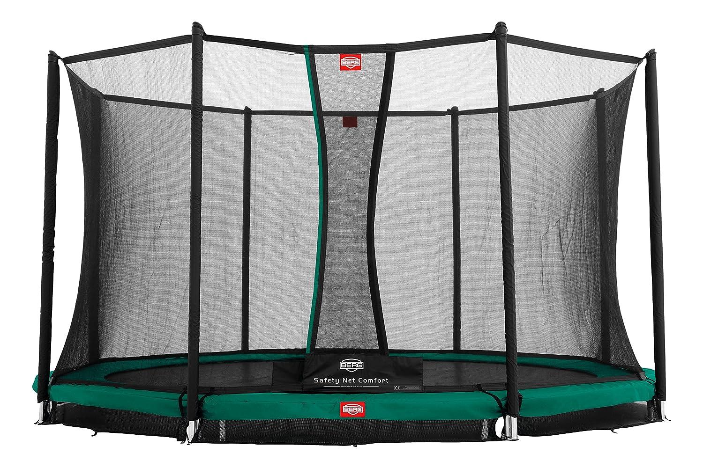 Berg® Trampolin InGround Favorit mit Sicherheitsnetz Comfort, ø 3,80 m, Randbezug Grau