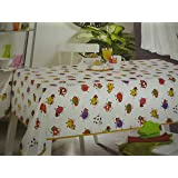 Funky Cows Multi Vinyl tablecloth table cover 250cm x 137cm