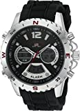 U.S. Polo Assn. Sport Men's Quartz Watch with Rubber Strap, Black, 22 (Model: US9550)