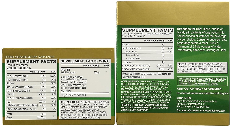 Amazon Advocare Herbal Cleanse Fiber Citrus Kit Herbal