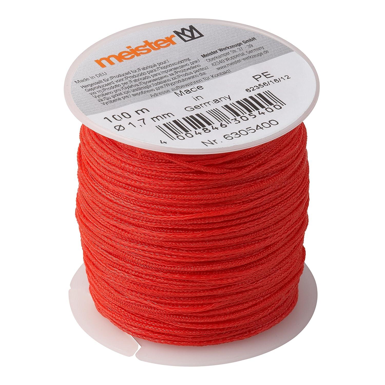 6305400 PE Rojo Meister cuerda 100/m x di/ámetro 1,7/mm
