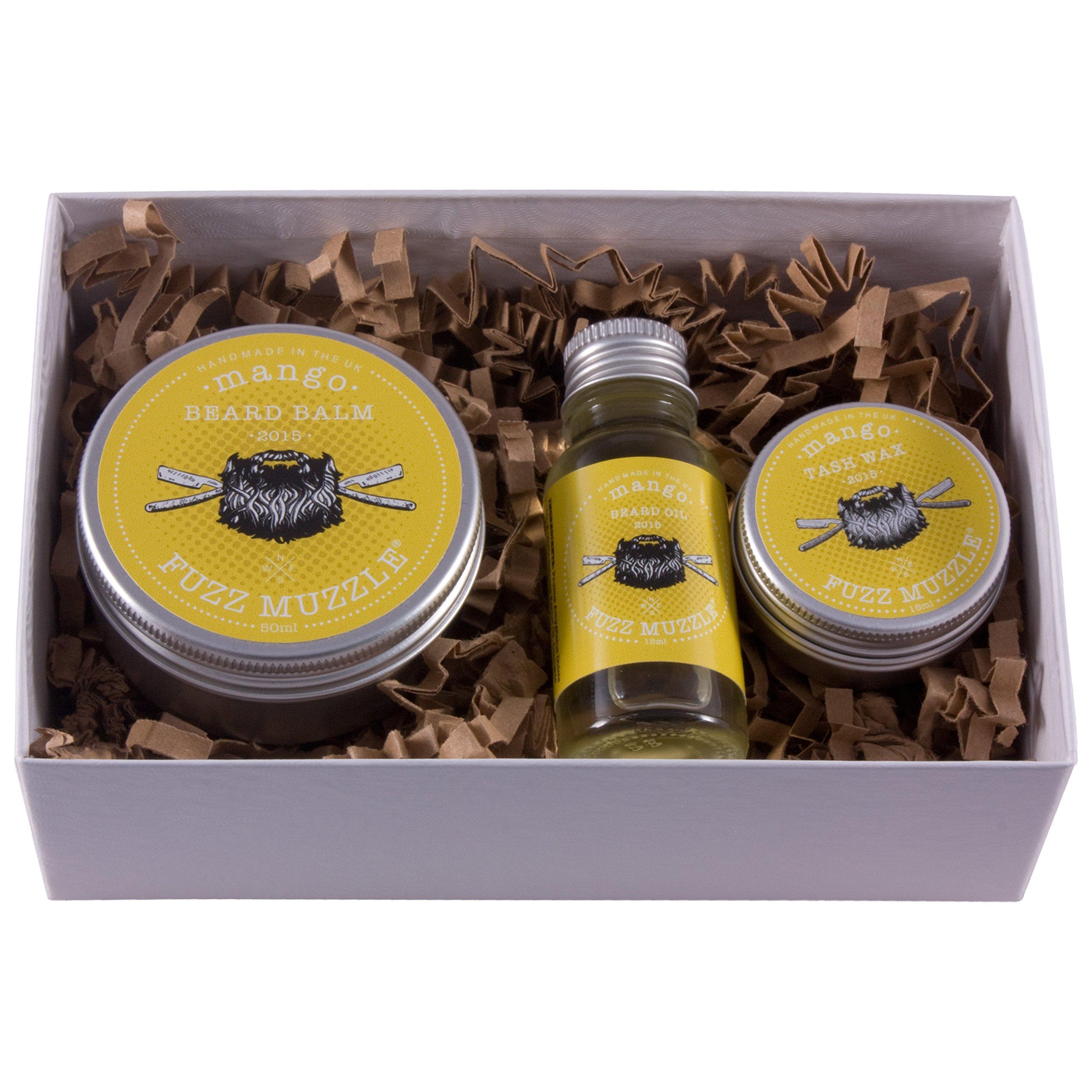 Fuzz Muzzle Mango Beard Balm, Beard Oil & Moustache Wax Gift Set