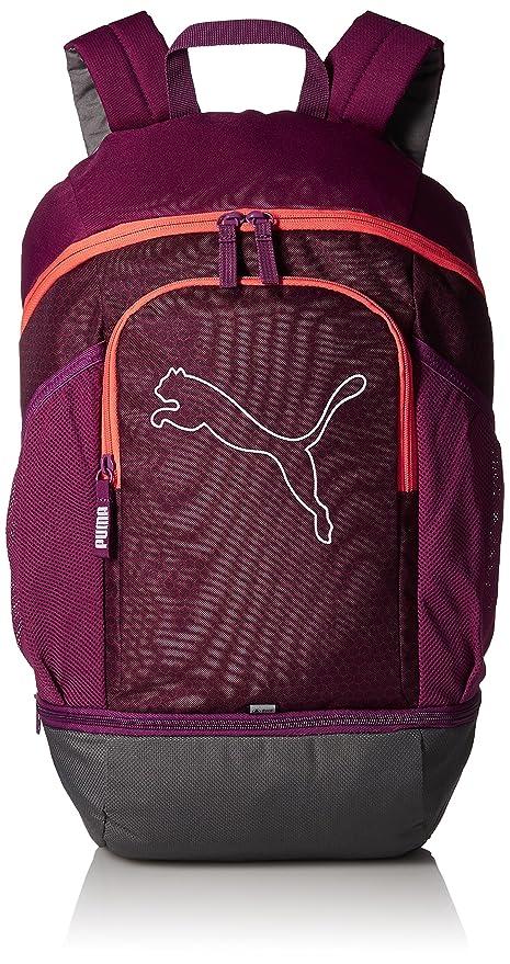 ad7c22e6f1 Puma 23 Ltrs Dark Purple Hot Coral Laptop Backpack (7439607)  Amazon ...