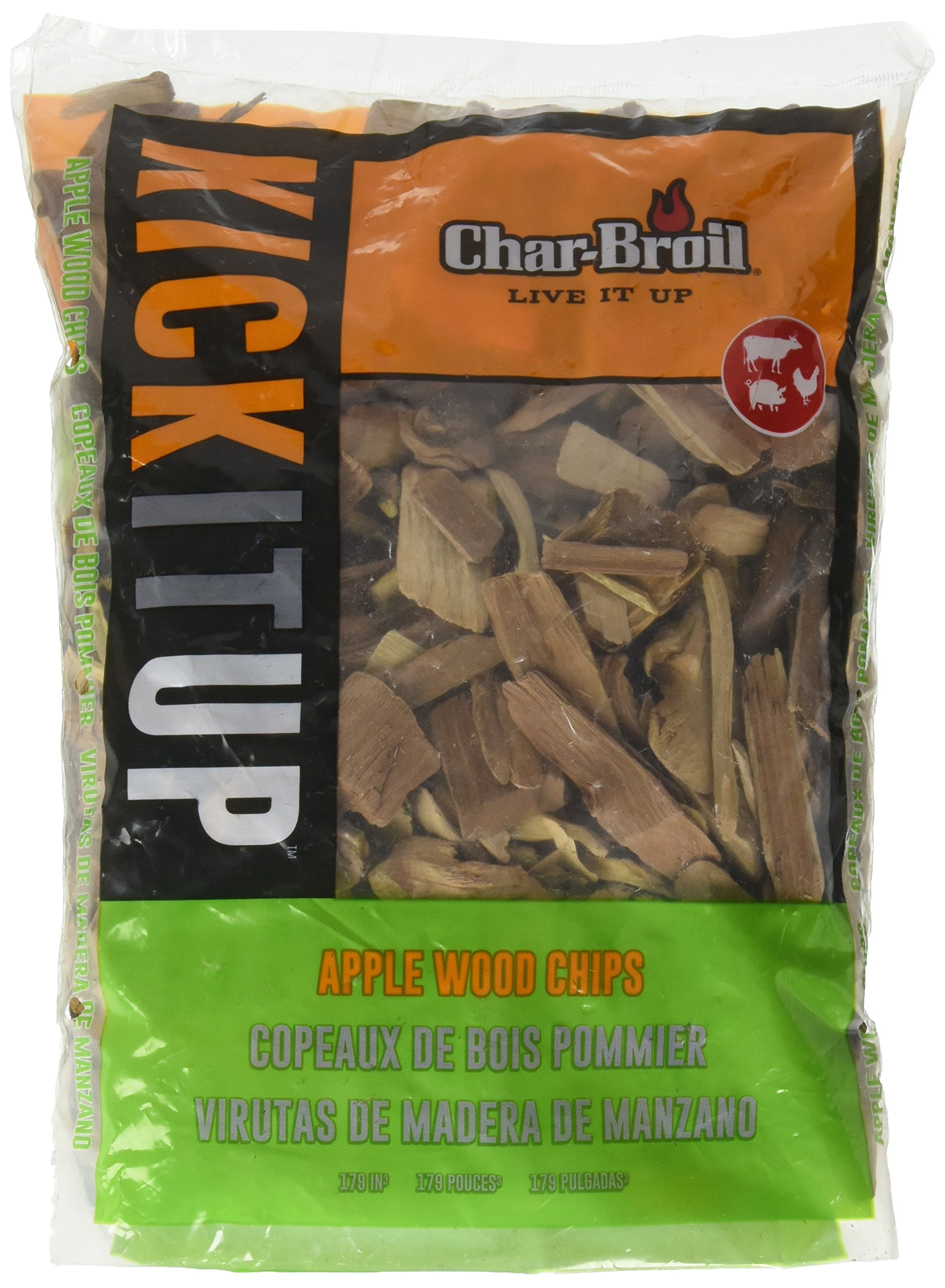 Char-Broil Apple Wood Smoker Chips, 2-Pound Bag by Char-Broil