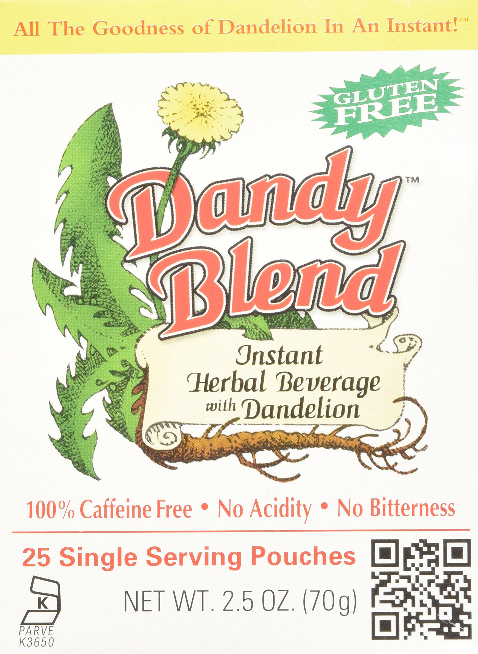 Dandy Blend, Instant Dandelion Beverage, 25 Single Serving Pouches, 2.5 oz