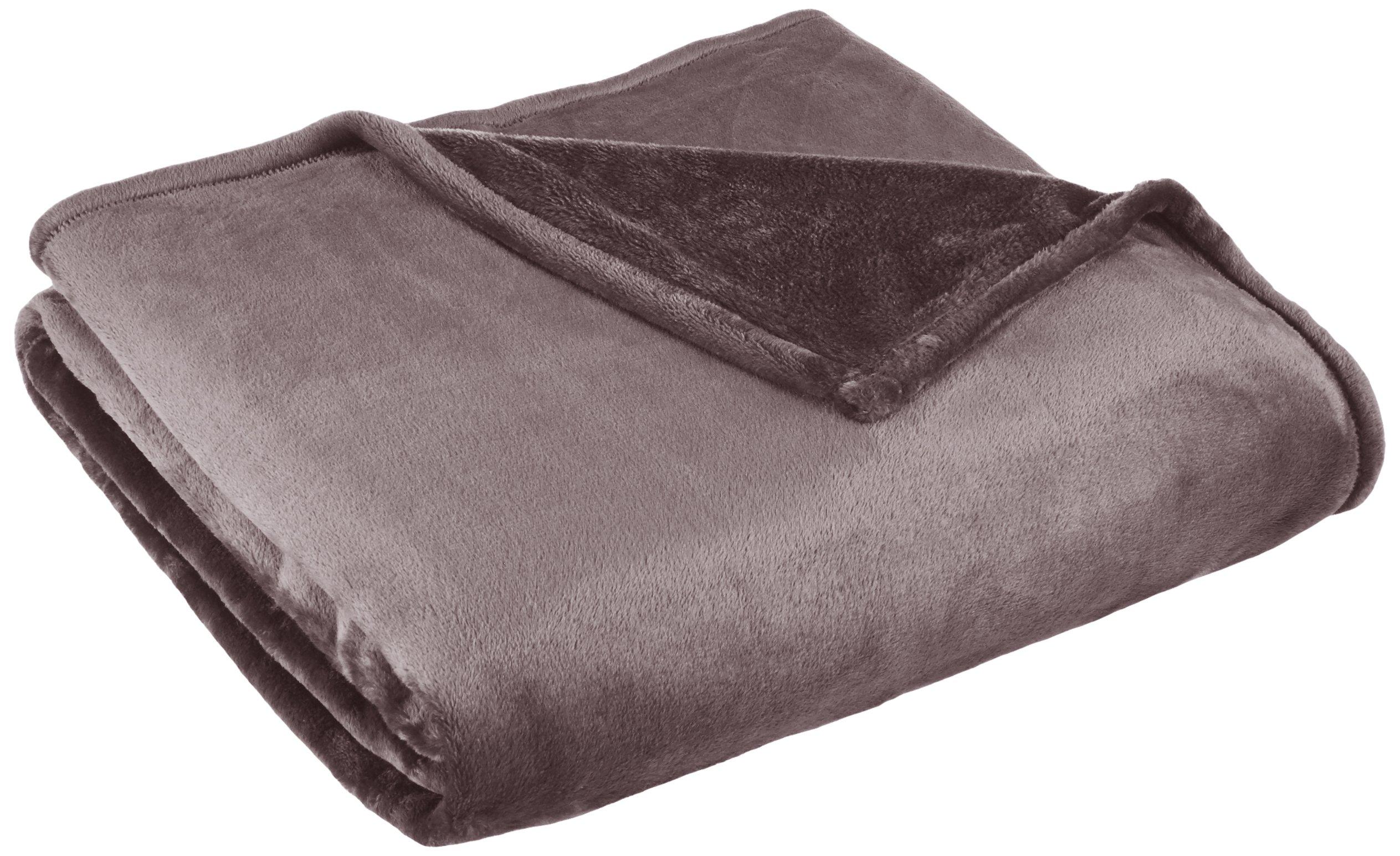 Northpoint, Cashmere Plush Velvet Blanket, Full/Queen, Charcoal