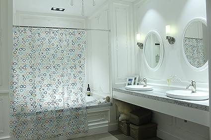 YUMIKO Shower Curtain Translucent Half Clear Semi Transparent Man Woman XOXO Funny Cute Colorful Logo
