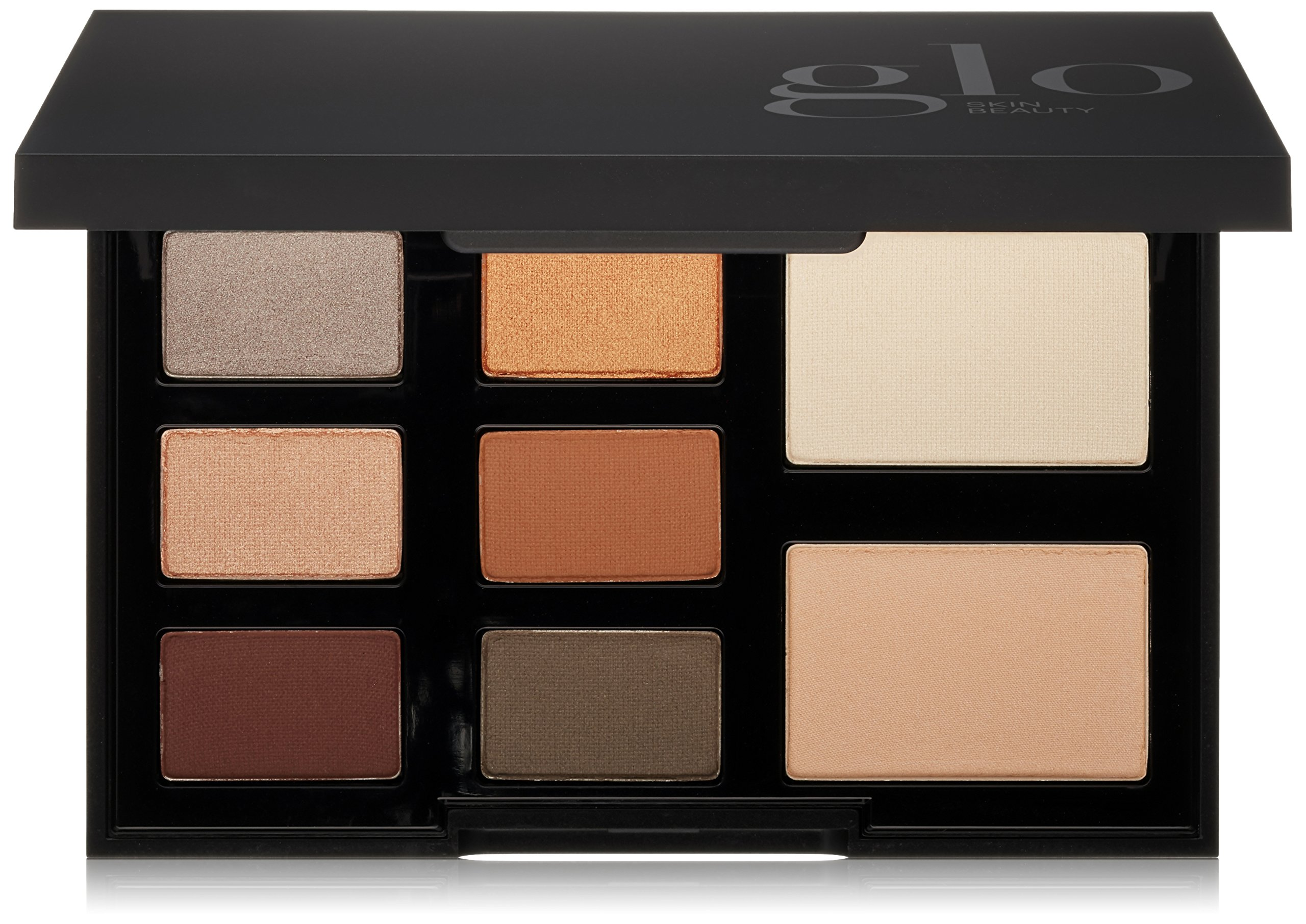 Glo Skin Beauty Shadow Palette - Mixed Metals - 8-Color Mineral Makeup Eyeshadow Palette, 4 Shade Options  | Cruelty Free
