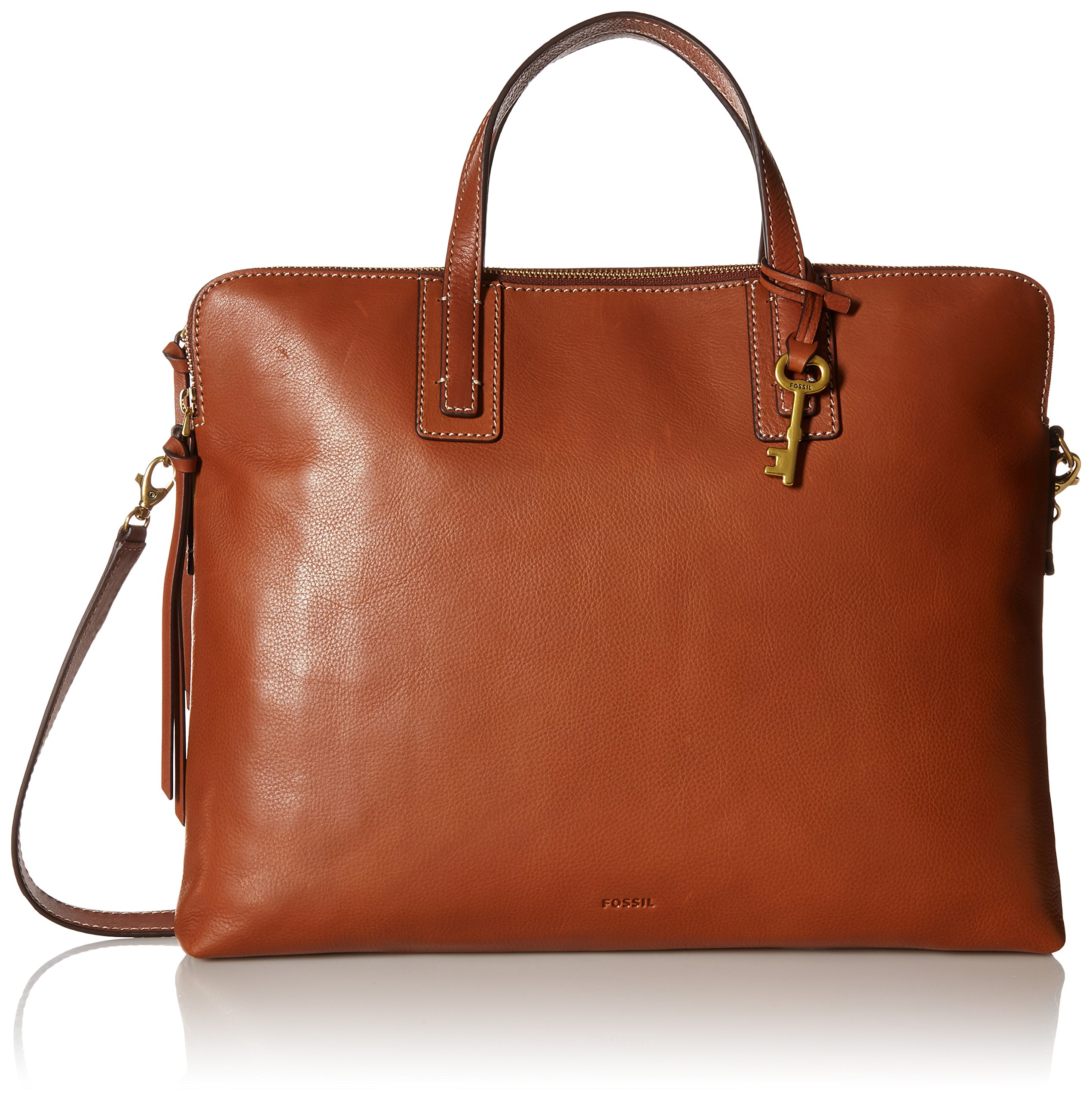 Fossil Emma Laptop Bag, Brown, One Size