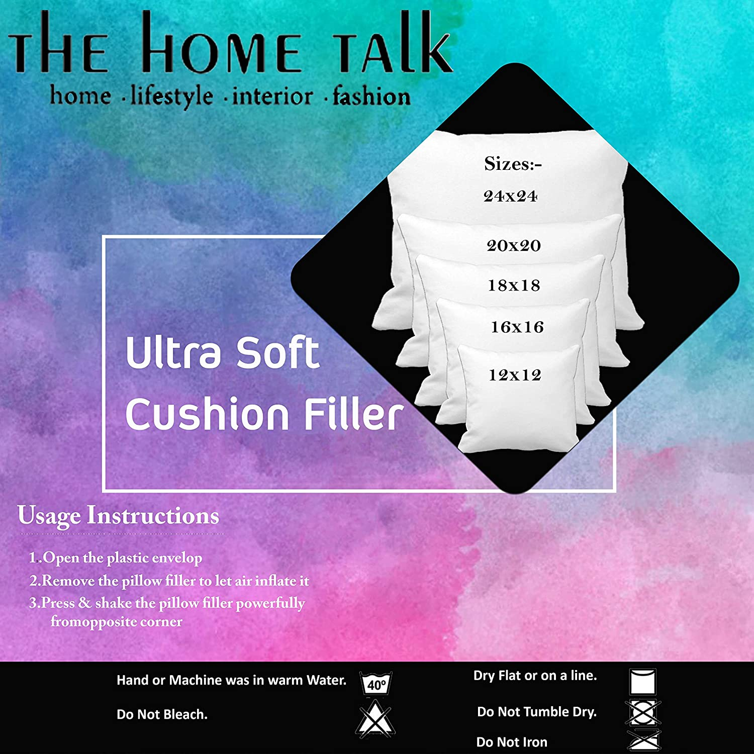 comfort talk x for soft inch quality pcs inserts of pillow premium pack the fillers dp fluffy online filler square cushion sofa home buy