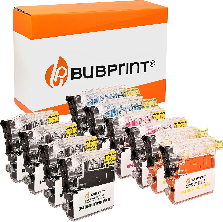 10 Bubprint Druckerpatronen Kompatibel Für Brother Lc 1100 Lc 980 Für Dcp 145c Dcp 195c Dcp 165c Mfc 250c Mfc 490cw Mfc 5490cn Mfc 5890cn Mfc 6490cw Bürobedarf Schreibwaren