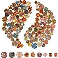 AIEX 100 Piezas Mixto Botón Aleatorio Pintura