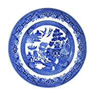 "Churchill Blue Willow Fine China Earthenware Salad Plate 8"" Set Of 6, Made In England"