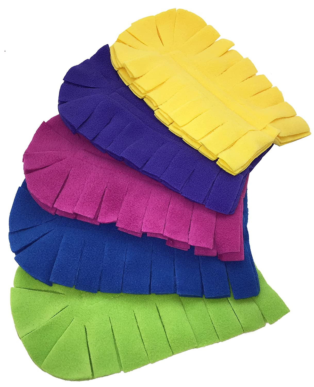 Xanitize Fleece Refills for Swiffer Hand Duster - Reusable, Dry Duster - 5-Pack Rainbow (Jewel)