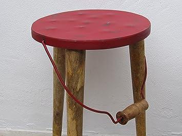 Melk schemel targa in sgabello rosso retro vintage sedia to go con