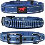 Heavy Duty Dog Collar With Handle | Ballistic Nylon Heavy Duty Collar | Padded Reflective Dog Collar With Adjustable…