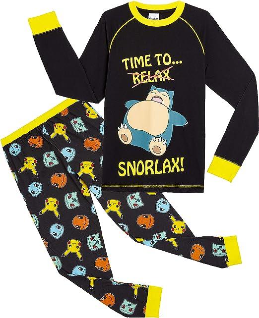 Pokèmon Pijama Niño Diseño con Snorlax | Pijama Infantil Invierno | Pijama Manga Larga Niño De Pikachu | Pijama para Niños De Dos Piezas | Ropa De Dormir para Niños: Amazon.es: Ropa y accesorios