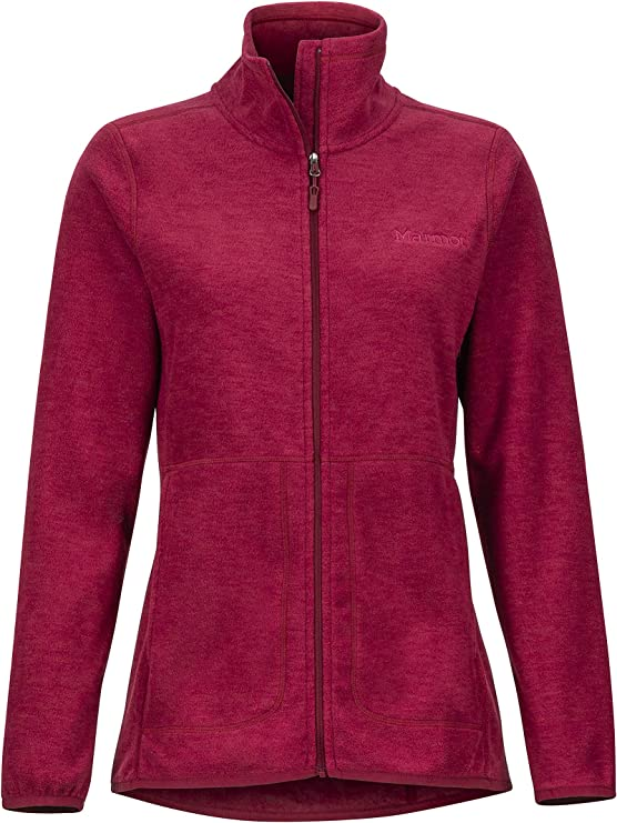 Marmot Verglas Jacket Traspirante Resistente al Vento Giacca in Pile da Esterno con Cerniera Completa