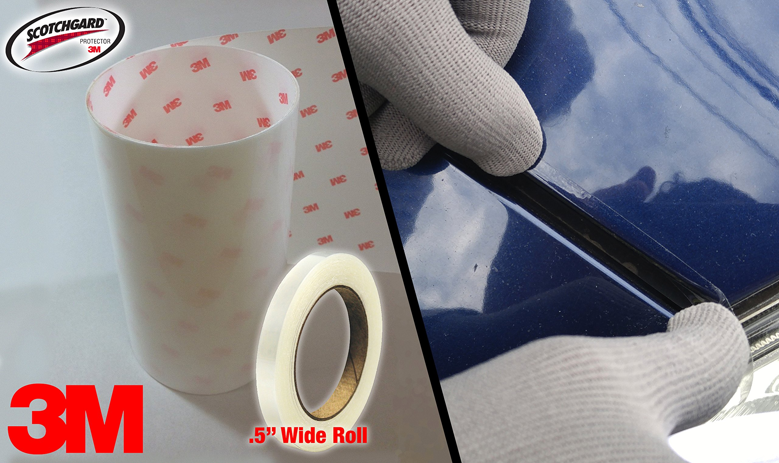 VViViD 3M Scotchgard Clear Hood and Trunk Edge Sealer Paint Protection Tape Roll (.5'' x 30ft) by VViViD