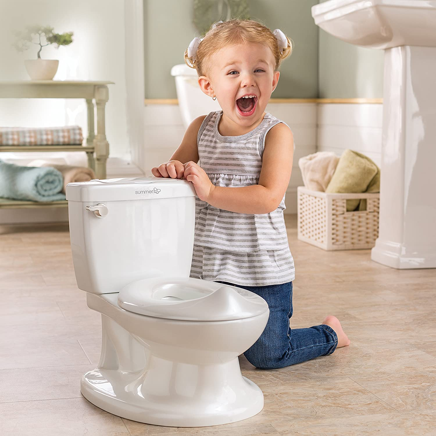 Summer My Size Potty, White – Realistic Potty Training Toilet Looks and Feels Like an Adult Toilet
