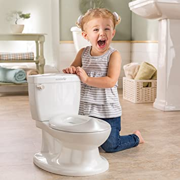 Kids Training Potty Toilet for Toddler with Flushing Sounds and Wipe Dispenser
