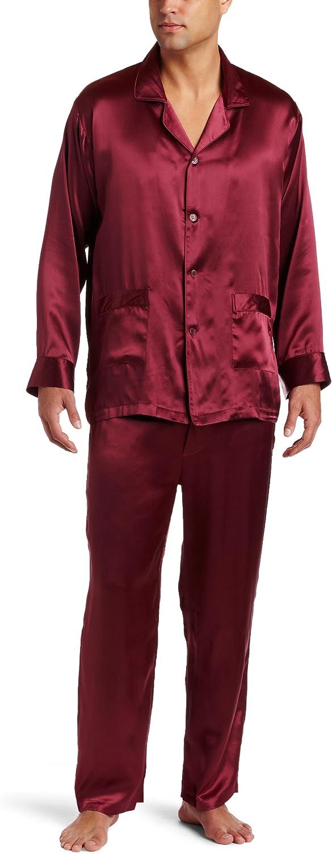 Intimo Men's Classic Silk Pajamas