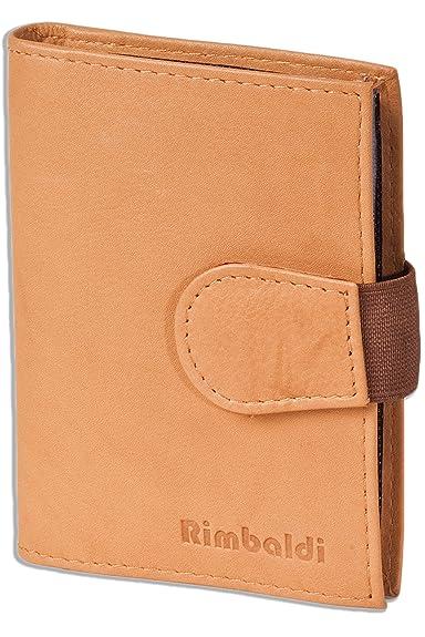 Rimbaldi-étui en cuir pour cartes d'identité et les pièces d'identité en cuir de veau noir naturel PV6QD