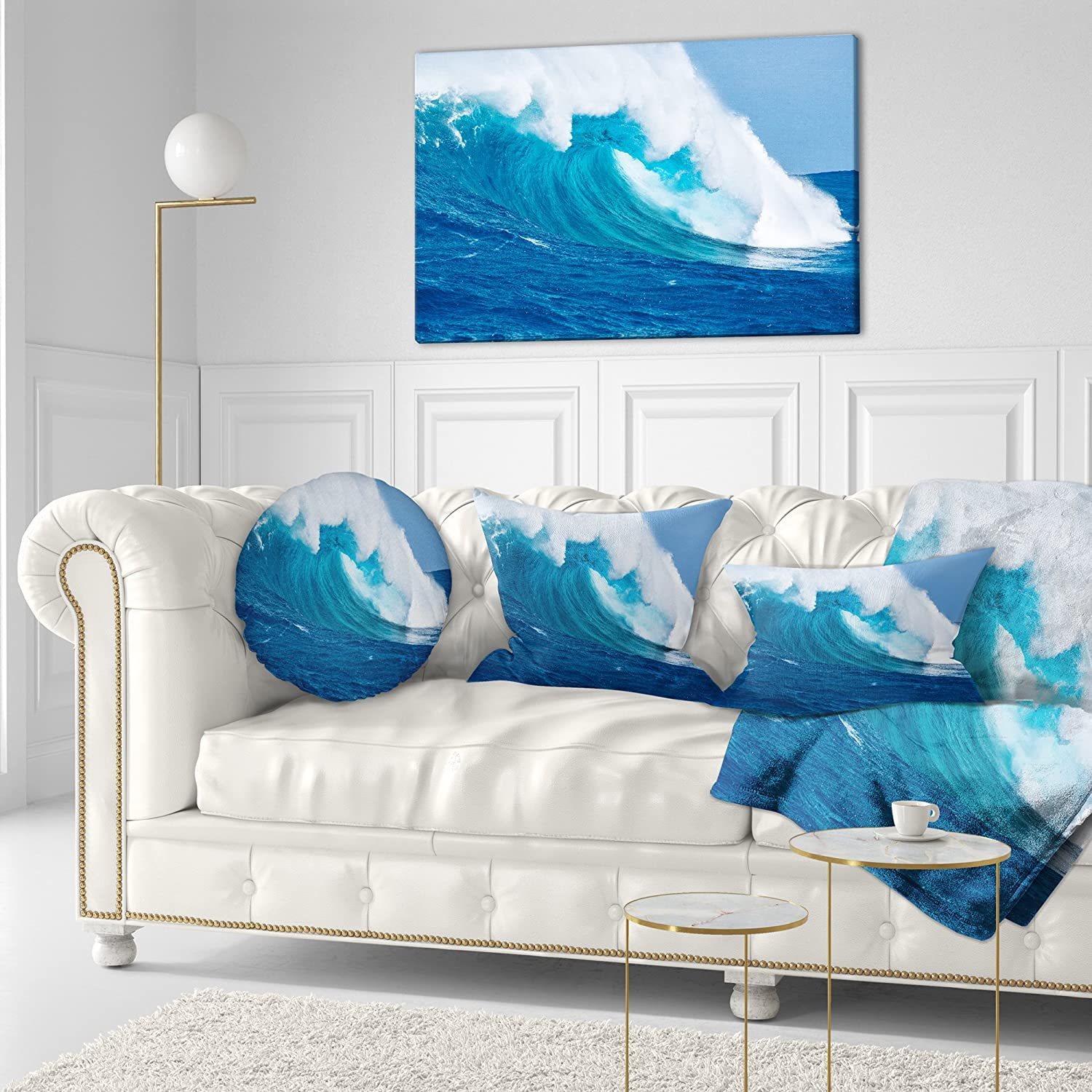 Designart CU6987-20-20-C Sea Returns Photography Throw Pillow 20