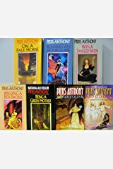 Incarnations of Immortality Set (Books 1-7) 1983-1990; On a Pale Horse, Bearing an Hourglass, With a Tangled Skein, Weilding a Red Sword, Being a Green Mother, For Love of Evil, & And Eternity Mass Market Paperback