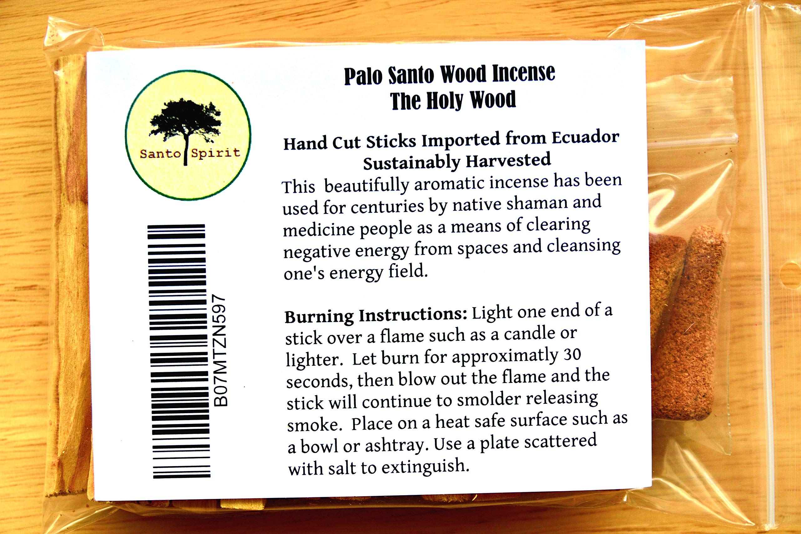 Santo Spirit Palo Santo Holy Wood Incense Smudge Sticks - 20 Pack Free Bonus 3 Palo Santo Incense Cones | 100% Natural | Hand Cut | High Resin | Sustainably Sourced | Clears Negative Energy by Santo Spirit (Image #6)