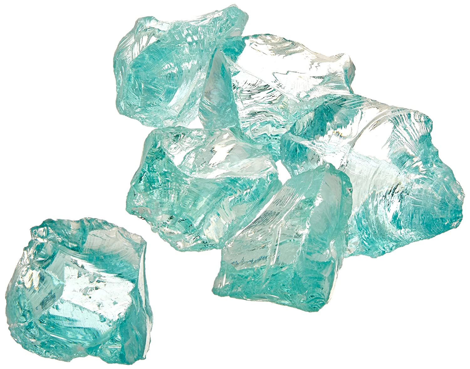 Dragon Glass 10 lb. Medium Ice Clear Landscape Glass 1/2 DFG10-L01M