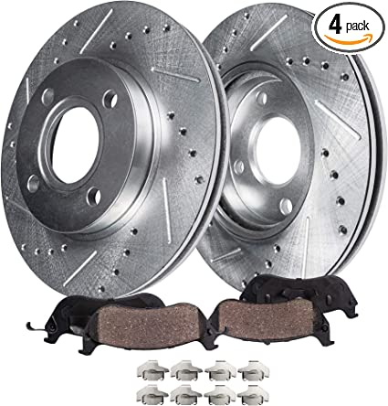 Front and Rear Brake Discs Rotors For 2006 2007-2010 Chevrolet Impala Slotted