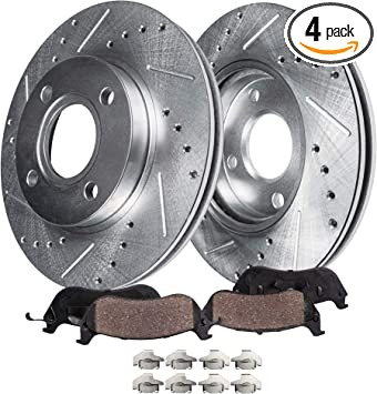 See Desc 07 08 09 10 Chevy Colbalt OE Replacement Rotors w//Ceramic Pads F