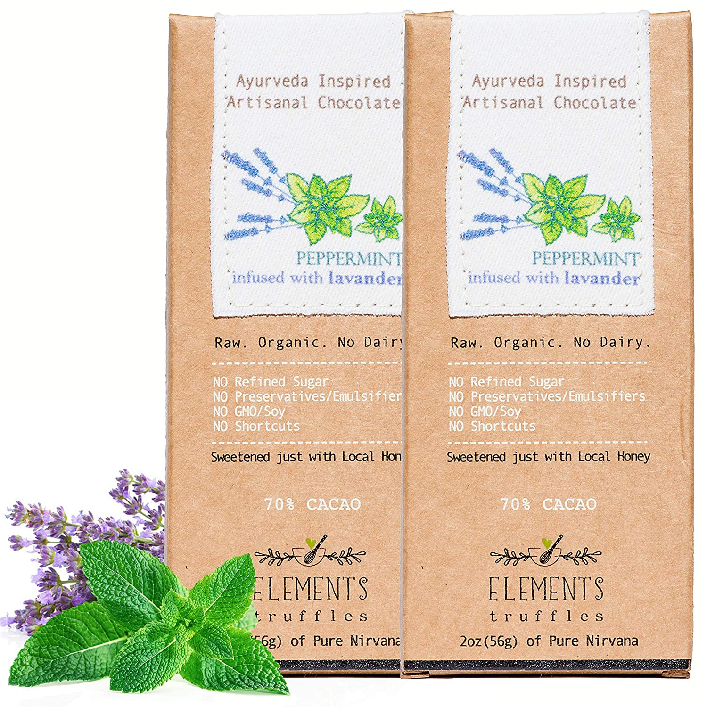 Amazon.com : Elements Truffles Peppermint Bar with Lavender Infusion - Dairy Free Chocolate Bar - Gluten Free, Non-GMO, Raw & Organic Chocolate Bar ...
