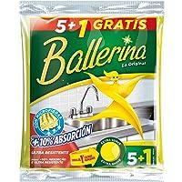 Ballerina Bayetas, color Amarilla - 6 unidades