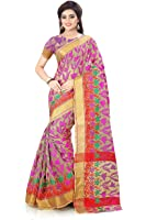 Royal Export Women's Cotton Silk Saree ( pink)