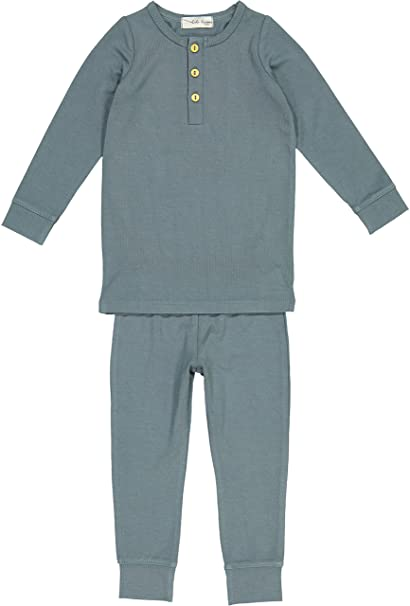 Amazon.com: Lil Leggs Pajamas de algodón unisex para niños y ...