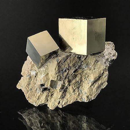 Pirita Cube en Basalt de Navajun, España – PB1: Amazon.es: Hogar