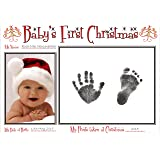 BabyRice New Baby's First Christmas Handprint and Footprint Kit/ Boy Girl Unisex Babys Prints