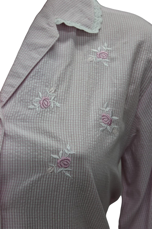 408603 New Miss Elaine Pink White Stripe Two Piece Pajamas Set - S at  Amazon Women s Clothing store  26822cf7a