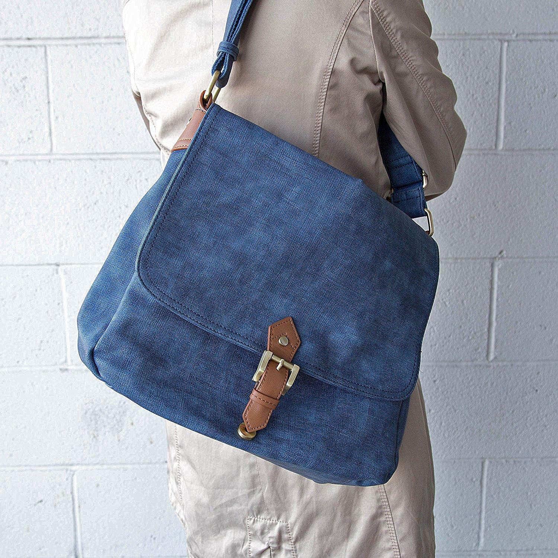 Adjustable Strap Blue Handbag Republic Flap Messenger w//Tablet Holder