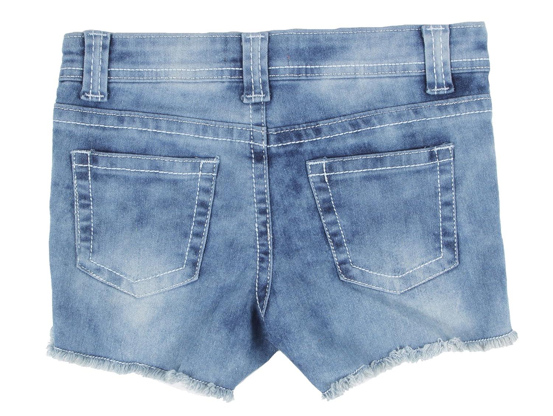 Fashion2Love Girls/' Stretch 5 Pockets Ripped Denim Jeans Shorts