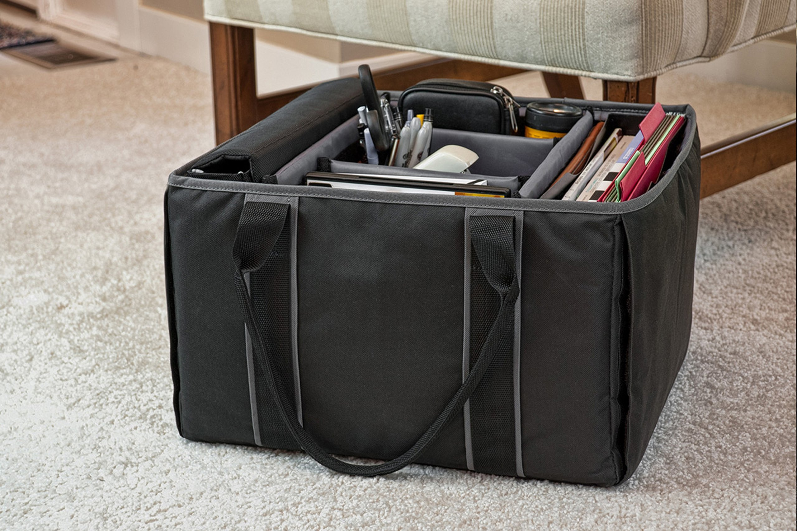 AutoExec AETote-08 Black/Grey File Tote with One Cooler and One Hanging File Holder by AutoExec (Image #15)