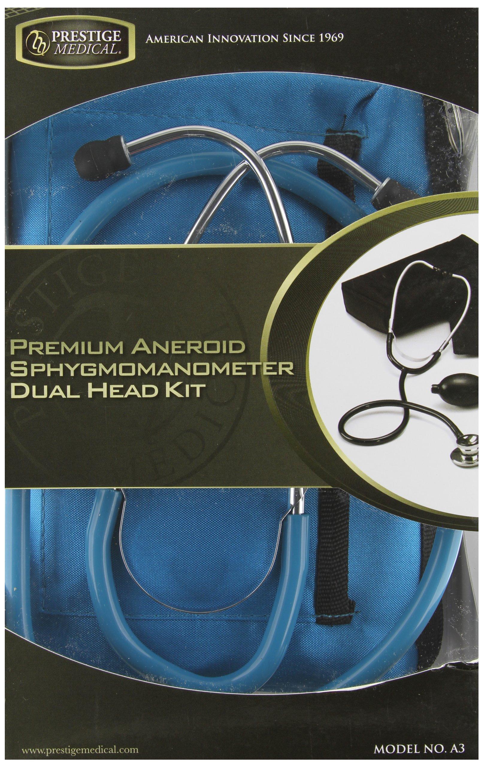 Prestige Medical Premium Aneroid Sphygmomanometer Dualhead Kit, Teal