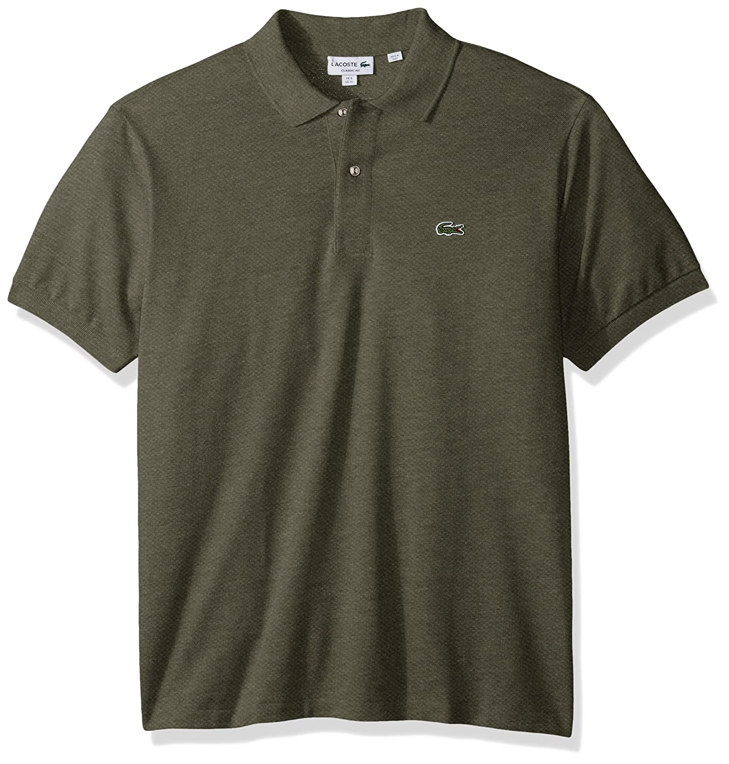 e8324b3a2 Lacoste Men s Short Sleeve Classic Fit Chine Pique Polo Shirt at Amazon  Men s Clothing store