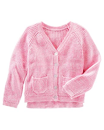 Amazon.com  OshKosh B gosh Little Girls Marled Pink Cardigan Sweater   Clothing 7e5479023