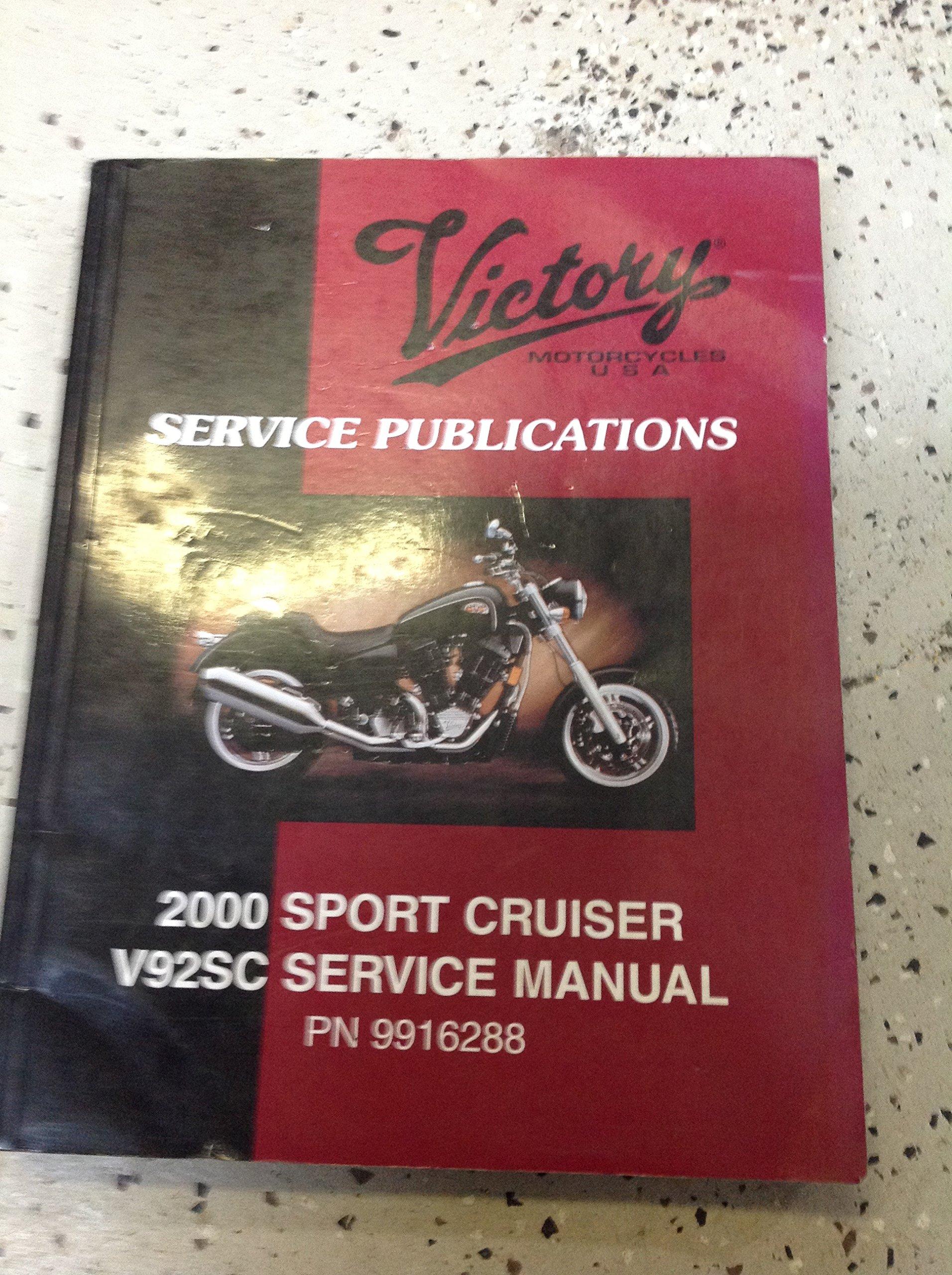 2000 VICTORY SPORT CRUISER V92SC Service Shop Repair Manual OEM Factory:  Polaris: Amazon.com: Books